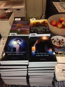 Mina böcker på bokmässan