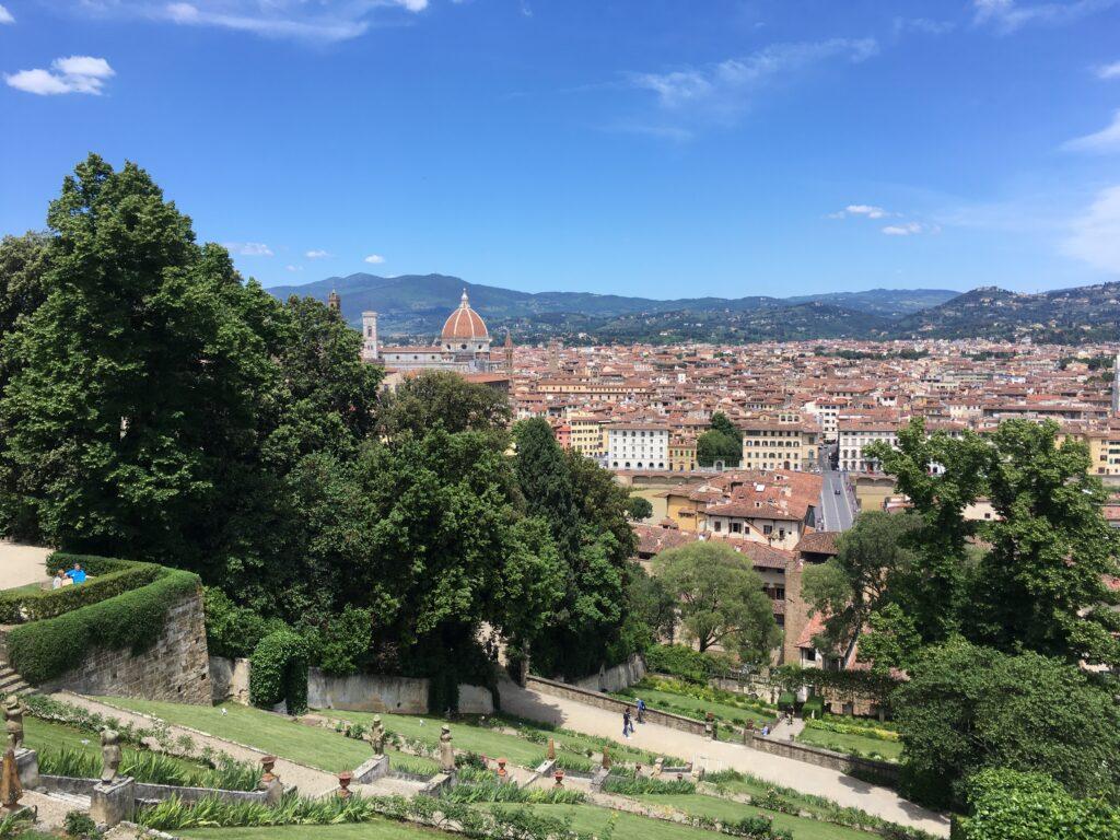 Vy över Florens  Giardino di Boboli